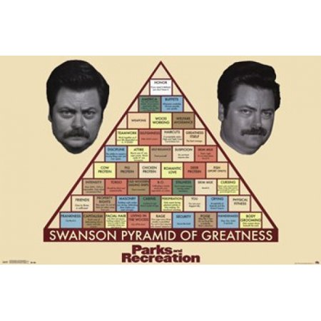 Parks & Rec - Pyramid of Greatness Poster Print