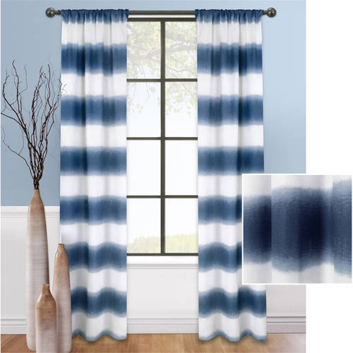 Mainstays Fading Stripe Curtain, Set of 2 by Colordrift LLC