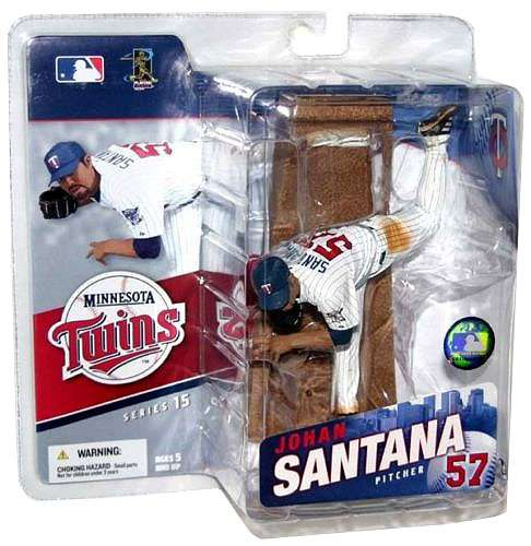 Mcfarlane Mlb 3 Figure - McFarlane MLB Sports Picks Series 15 Johan Santana Action Figure [White Jersey]