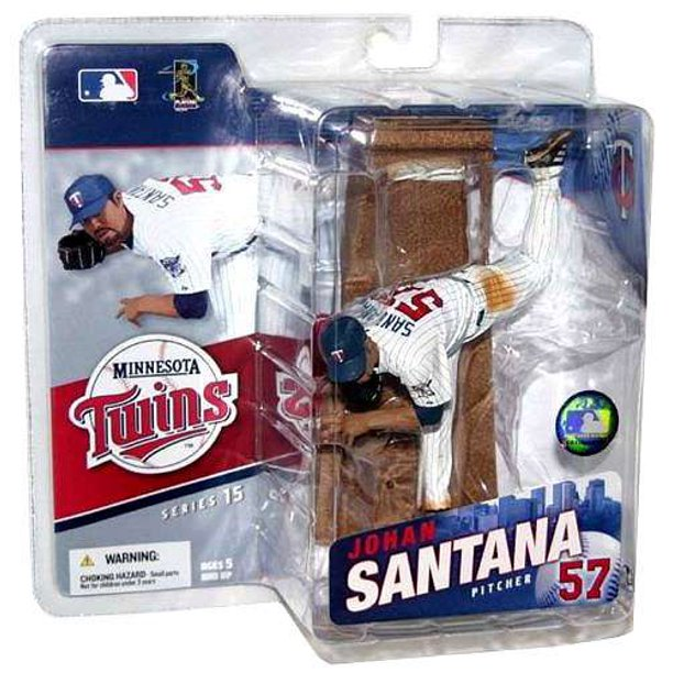 McFarlane MLB Sports Picks Series 15 Johan Santana Action Figure [White Jersey]