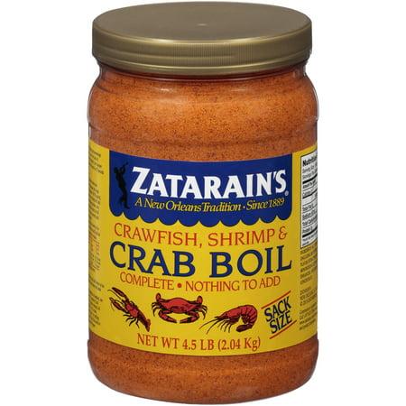- Zatarain's Crawfish, Shrimp & Crab Boil, 73 oz