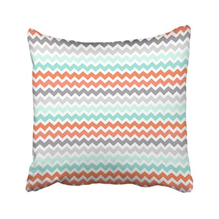 WinHome Decorative House Aqua Coral Grey Teal Decorative Pillowcase Cushion Cover Size 20x20 inches Two -