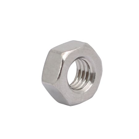 Unique Bargains 8pcs M6 x 1mm Pitch Metric Thread 201 Stainless Steel Left Hand Hex Nuts - image 2 of 3