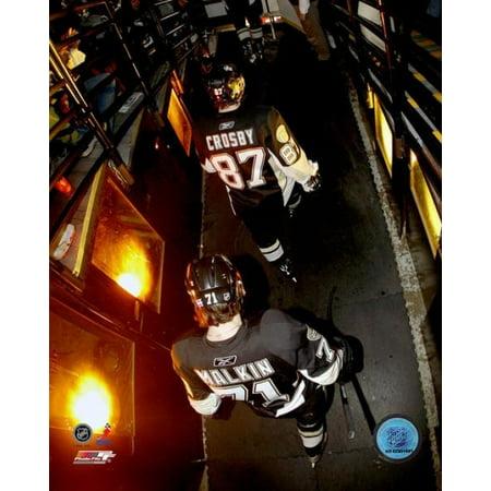 Evgeni Malkin & Sidney Crosby 2007 Action Photo Print