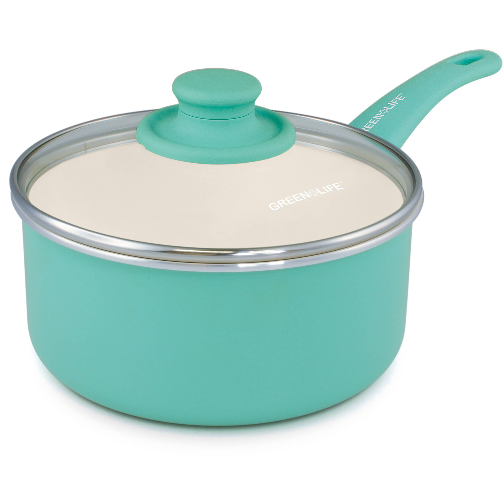 1 Quart Ceramic Saucepan With Lid