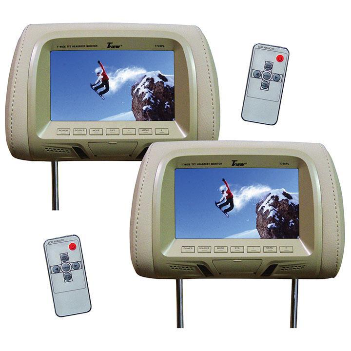 """Tview 7"""" Tft-lcd Car Headrest With Monitor Pairtan - image 1 of 1"""
