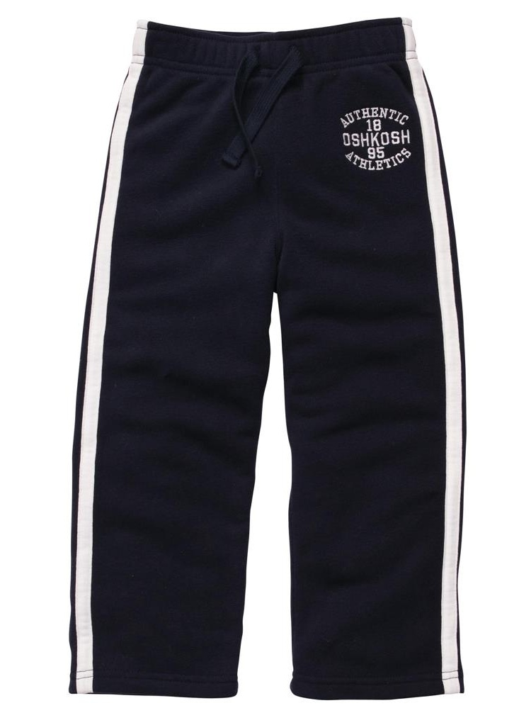Osh Kosh Boys 2T-4T Fleece Pant (Navy 2T)