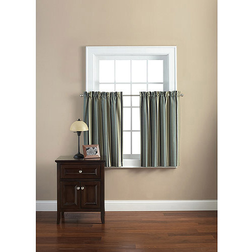 Mainstays Canvas Curtain Tier, Set of 2