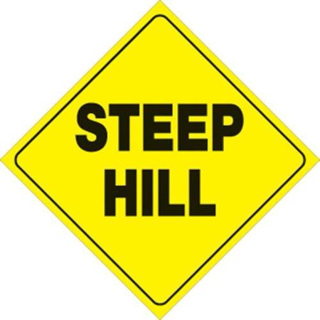 Voss 431 SH YR 12x12in. Trail Sign - Steep Hill