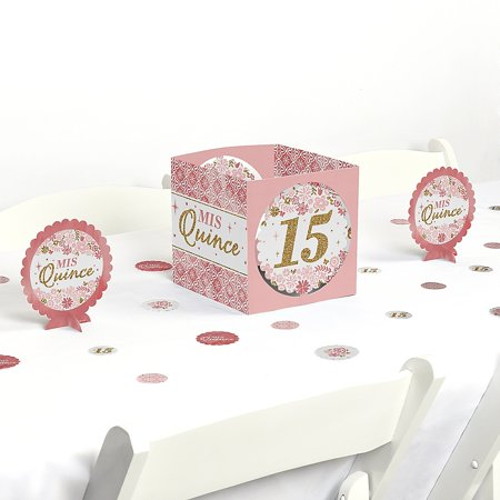 Mis Quince Anos - Quinceanera Sweet 15 Birthday Party Centerpiece and Table Decoration Kit](Mis Quince Decorations)