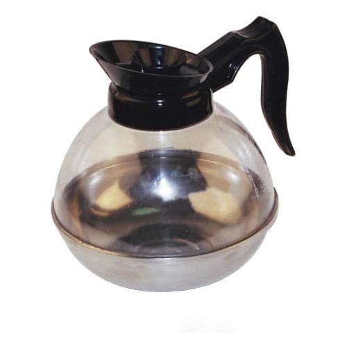 Winware by Winco Plastic Coffee Decanter w/St Steel Base. Orange