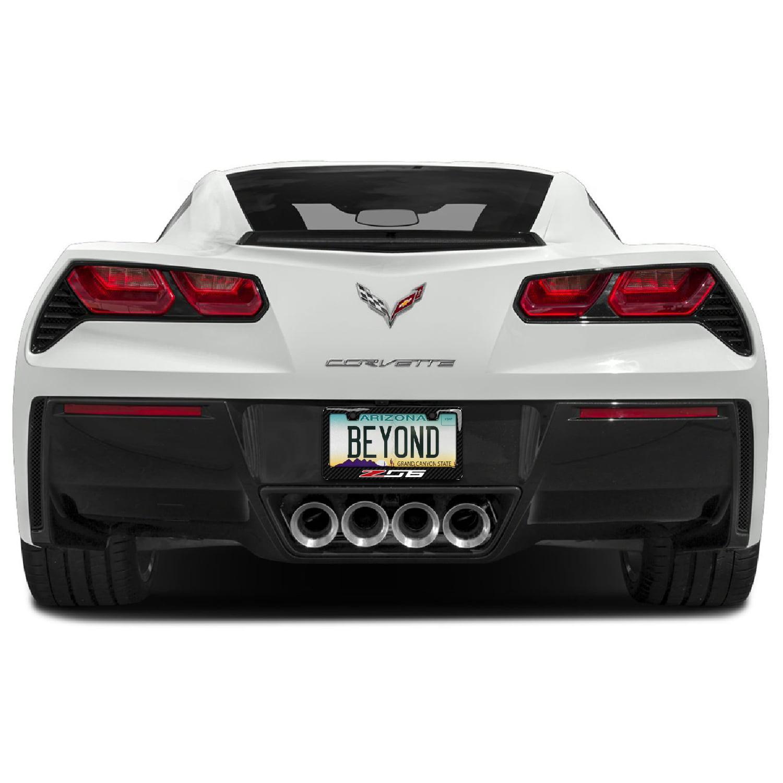 iPick Image for Chevrolet Corvette C7 Z06 Real Carbon Fiber License Plate Frame