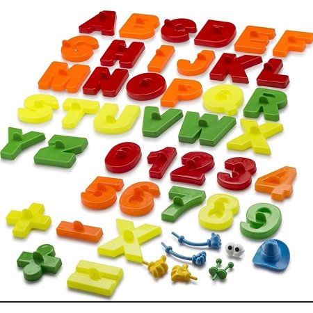 CoolSand Learning Sand Molds and Tools Kit (44 Pcs) - Works with all other Play Sand Brands - Includes: 26 Alphabets, 15 Numbers and Math Signs, and 8 Creative Parts - Sand Not Included (Creative Stand)