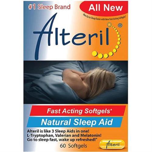 Alteril Natural Sleep Aid Liquid Softgels, 30 ea (Pack of 6)