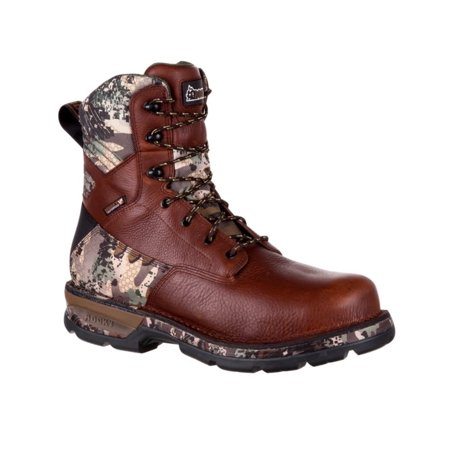 rocky outdoor boots mens lace leather fieldlite brown camo rks0319