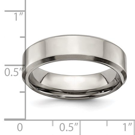 Titanium Beveled Edge 6mm Brushed Wedding Ring Band Size 9.00 Classic Flat W/edge Fashion Jewelry For Women Gifts For Her - image 7 of 10