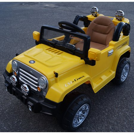 New Jeep Wrangler Style 12v Ride On Electric Car For Kids With