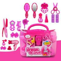 Generic Kidsl Hairdresser Pretend Play Toy Fashion Beauty Play Set w/ Working Hair Dryer, Hair Dryer Kit