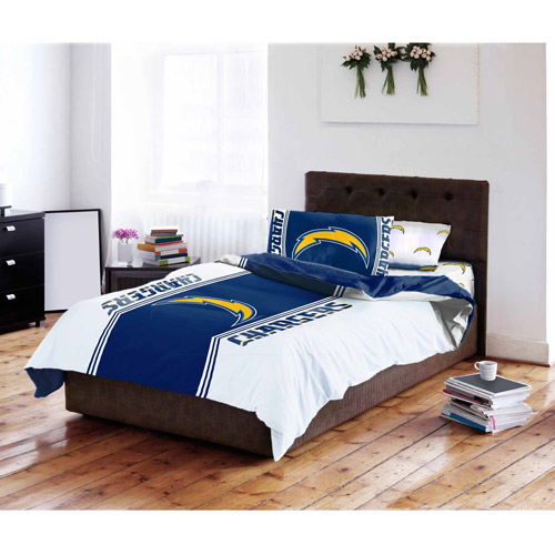 NFL Los Angeles Chargers Bed in a Bag Complete Bedding Set