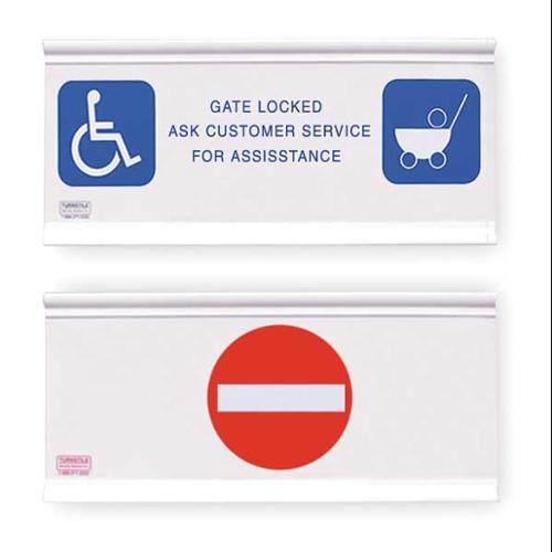 TURNSTILE GL-NE Gate Locked/No Entry, Gate Signage