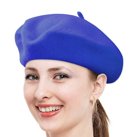 Us Army Beret Colors - Classic Solid Color Wool French Beret (Royal Blue)