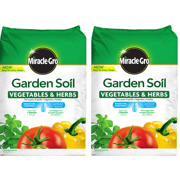Miracle-Gro Garden Soil Vegetables & Herbs 1.5 CF (2 pack)