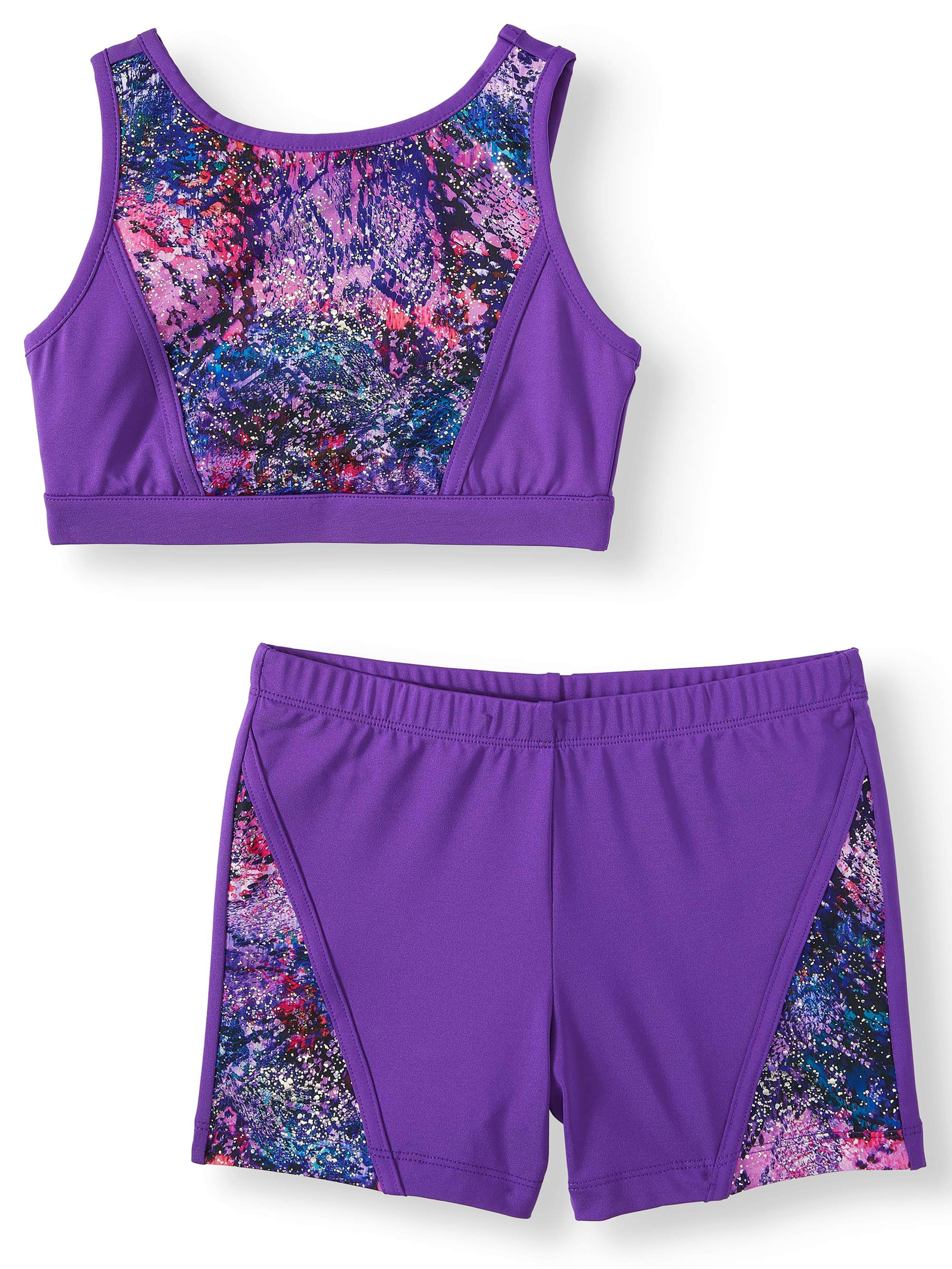 Danskin Now Danskin Now Girls Dance Gymnastics Snakeskin Bra Top And Bike Short Set Little Girls Big Girls Walmart Com Walmart Com