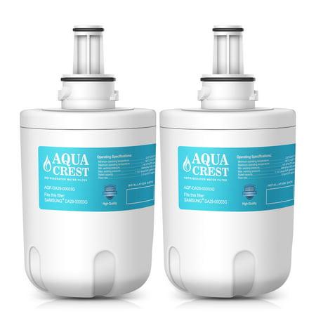 2 Pack AQUACREST DA29-00003G Replacement for Samsung Aqua-Pure Plus DA29-00003G, DA29-00003B, DA29-00003A, HAFCU1 Refrigerator Water Filter
