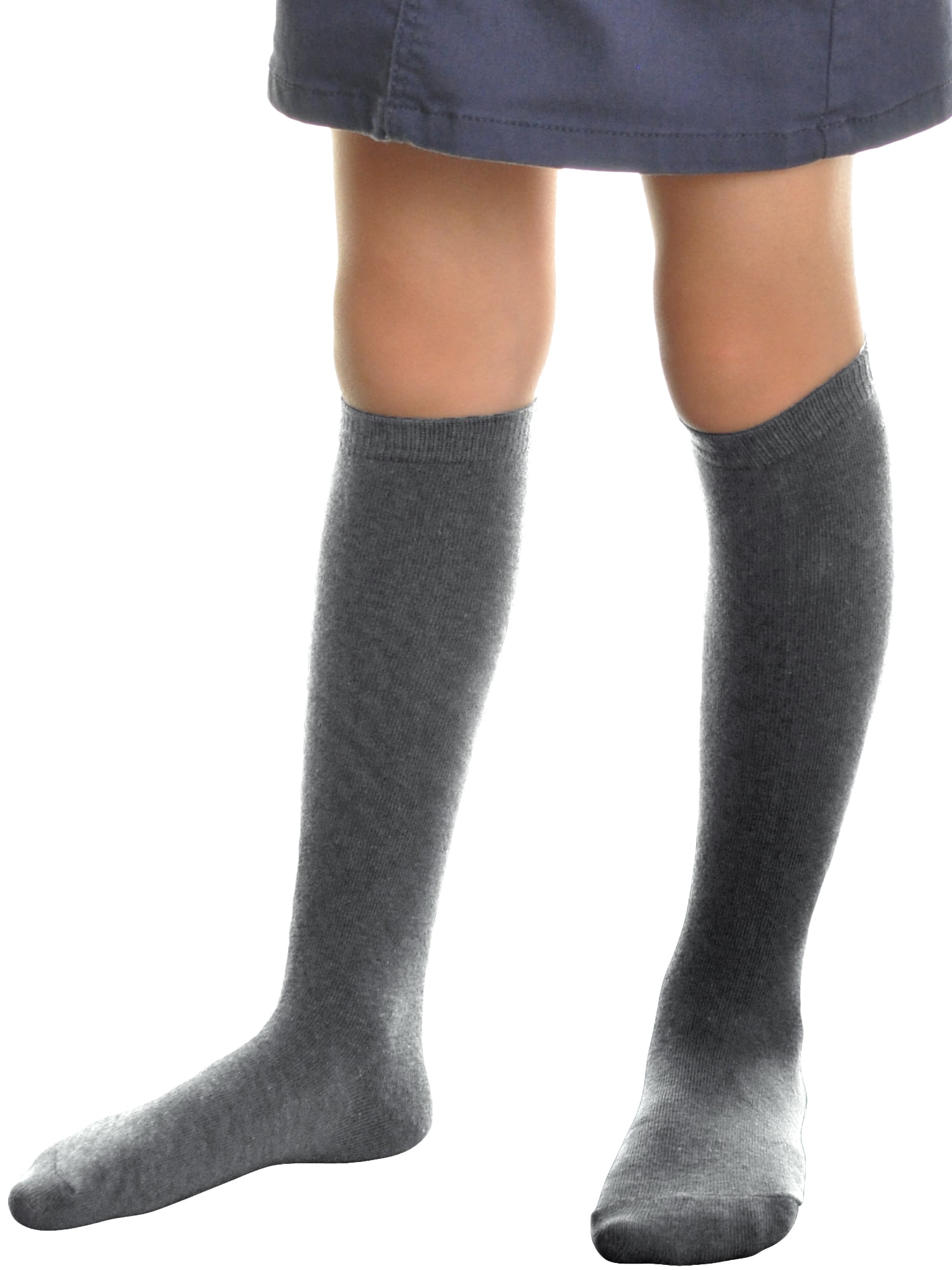 or 12 Pairs Girls Knee High School Socks With Bow All Size in 10 Colors 6 3