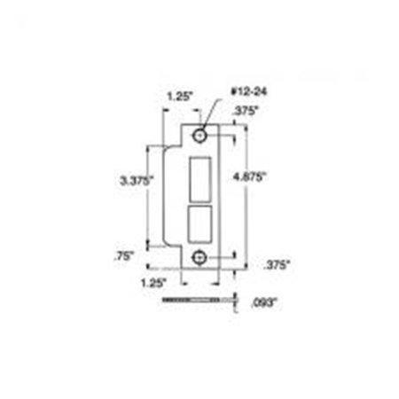 Baldwin 6340260R Right Handed Latch & Deadbolt Curved Lip Entrance Mortise Strike with Backset - Polished Chrome