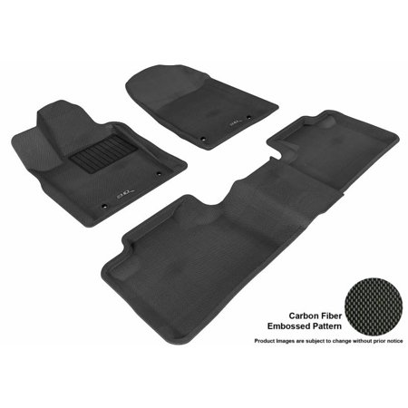 3D MAXpider 2013-2017 Jeep Grand Cherokee 2Nd Row Bench Seat Dual Posts On Driver'S Floor 1st Row 2nd Row Kagu Carbon Fiber Embossed Pattern Black Floor Mat L1JP00501509 (First Row Seats)