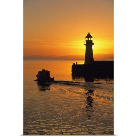 Great Big Canvas John Sylvester Poster Print Entitled Sunrise  Harbour Lighthouse  Grand Bank  Newfoundland  Canada