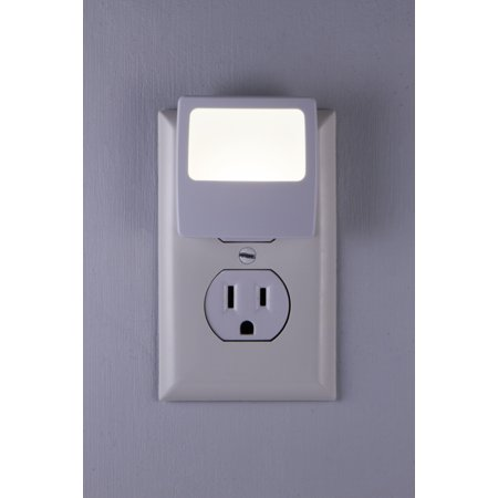 GE LED Plug-In Night Light, 2-Pack, Always On, Soft White Glow, 11311