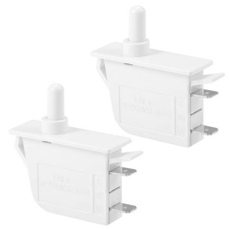 Refrigerator Door Light Switch Momentary Fridge Switch NC AC 250V 0.5A 2pcs - image 1 of 1