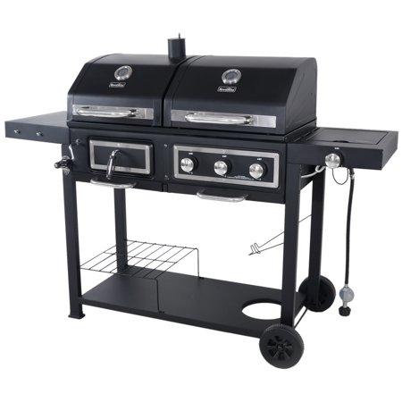 Combination Gas Grill - Revoace Dual Fuel Combination Charcoal/Gas Grill