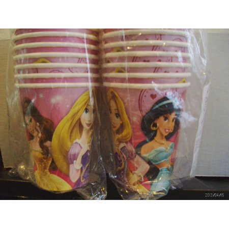 Disney Princess 'Princess Sparkle and Shine' 9oz Paper Cups 8 (Disney Princesses Cup)