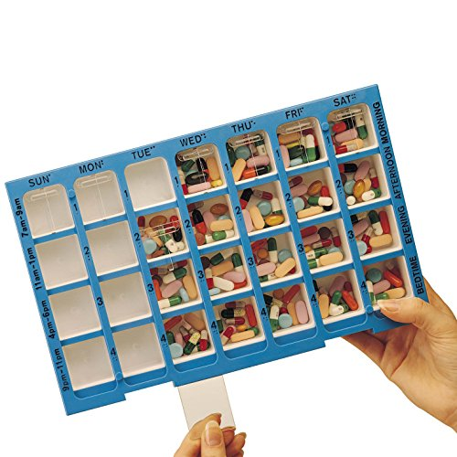 Weekly Four Times a Day Practidose Medication Organizer - Oversize Pill Dispenser