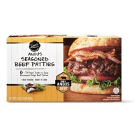 Sam's Choice Black Angus Seasoned Beef Patties, 6 ct, 2 lb (Frozen)