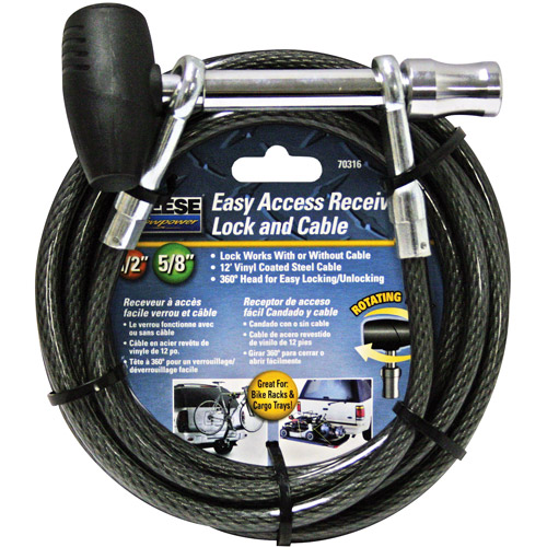 Reece Towpower EZ Access Receiver Lock with Cable