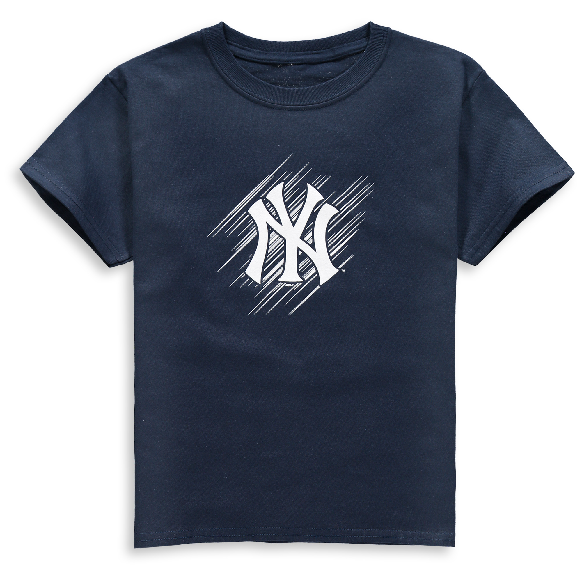 New York Yankees Stitches Youth Team Logo T-Shirt - Navy