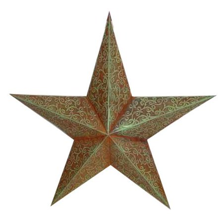 Craft Outlet Tin Engraved Star Decorative
