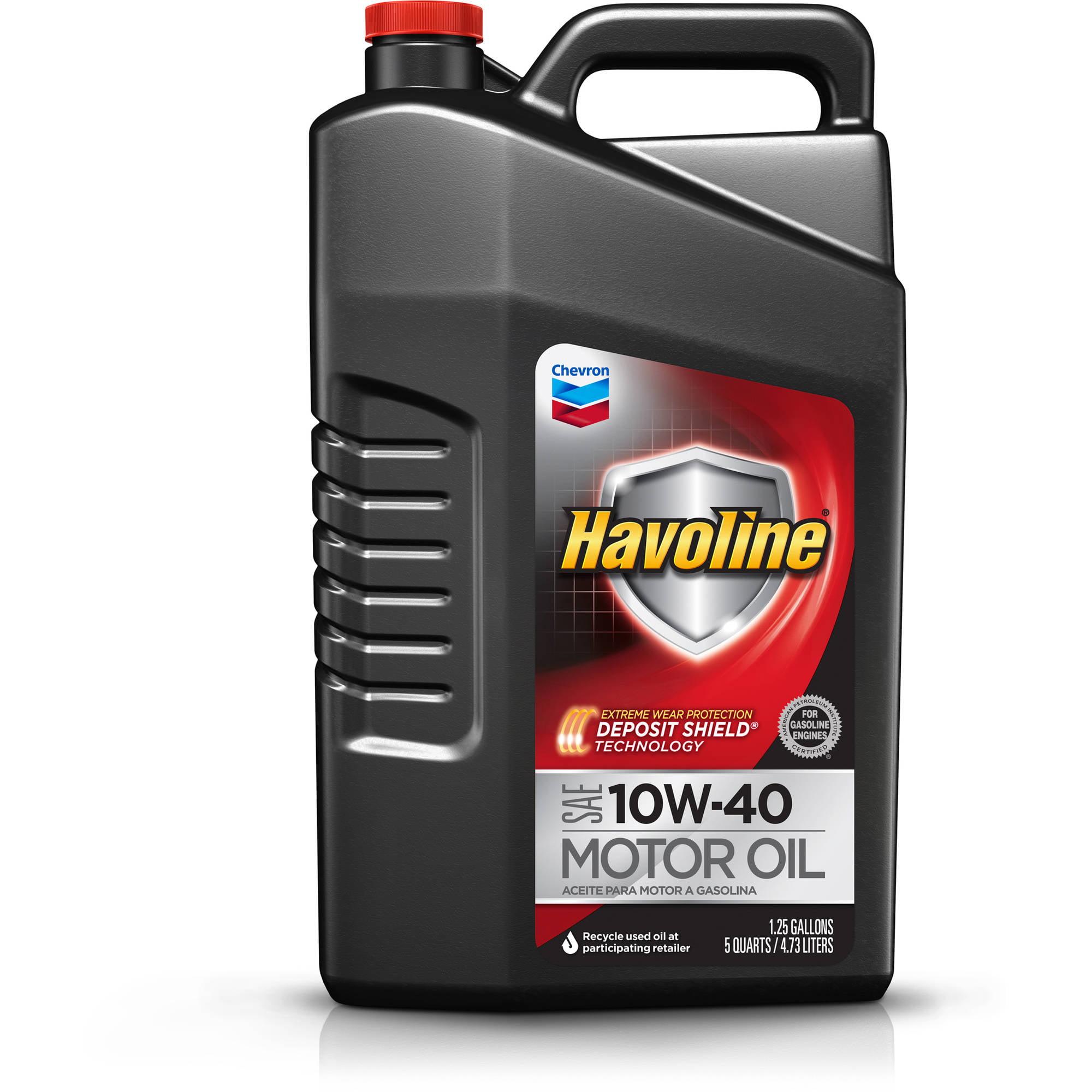 Havoline with Deposit Shield 10W40 Motor Oil, 5 qt - Walmart.com
