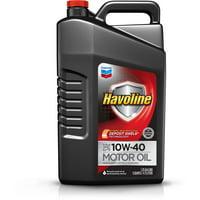 Havoline with Deposit Shield 10W40 Motor Oil, 5 qt