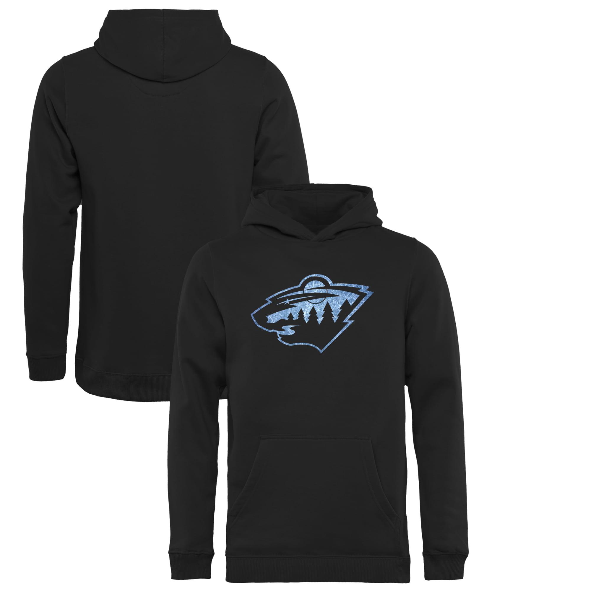 Minnesota Wild Youth Pond Hockey Pullover Hoodie Black by Football Fanatics/Ruppshirts