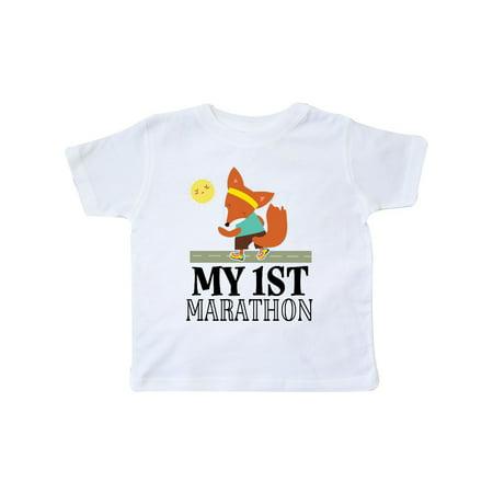 My 1st Marathon Race Running Toddler T-Shirt](Marathon Outfit Ideas)