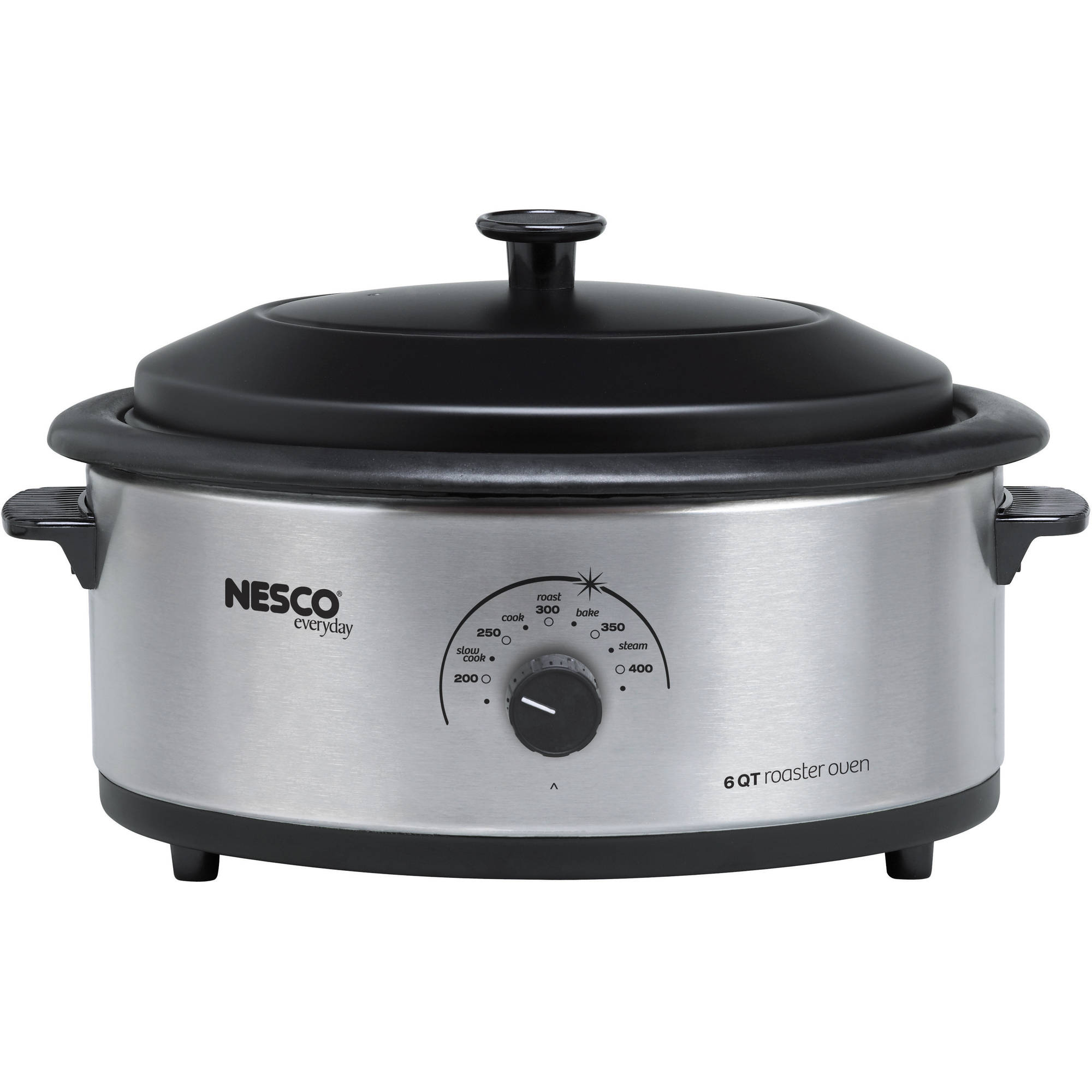 Non Stick Kitchen Appliances Nesco 6 Quart Capacity Stainless Steel Roaster Oven Non Stick
