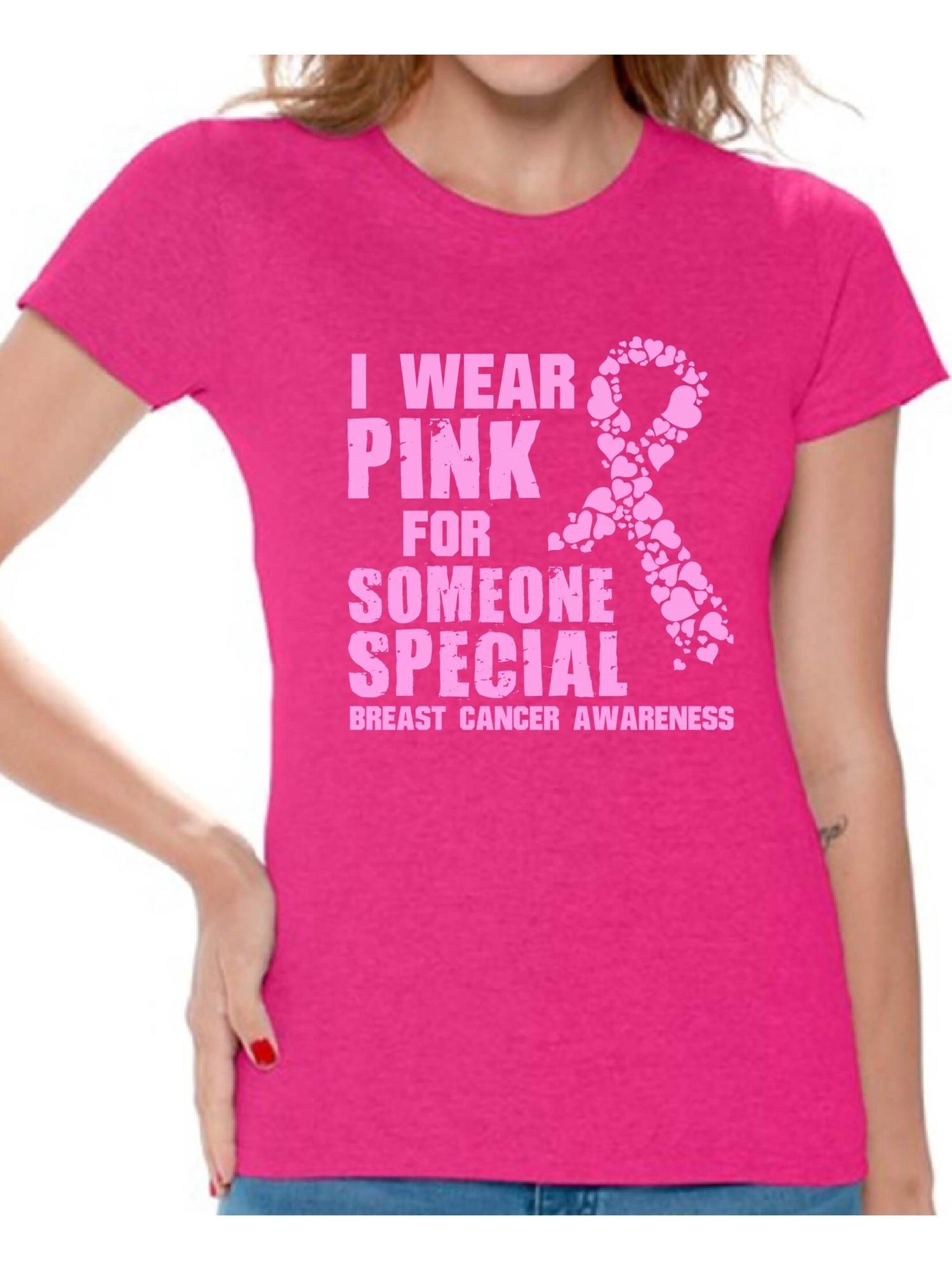 Wings Of Hope V-NECK WOMEN T-Shirt Breast Cancer Awareness Surviver Ladies Shirt