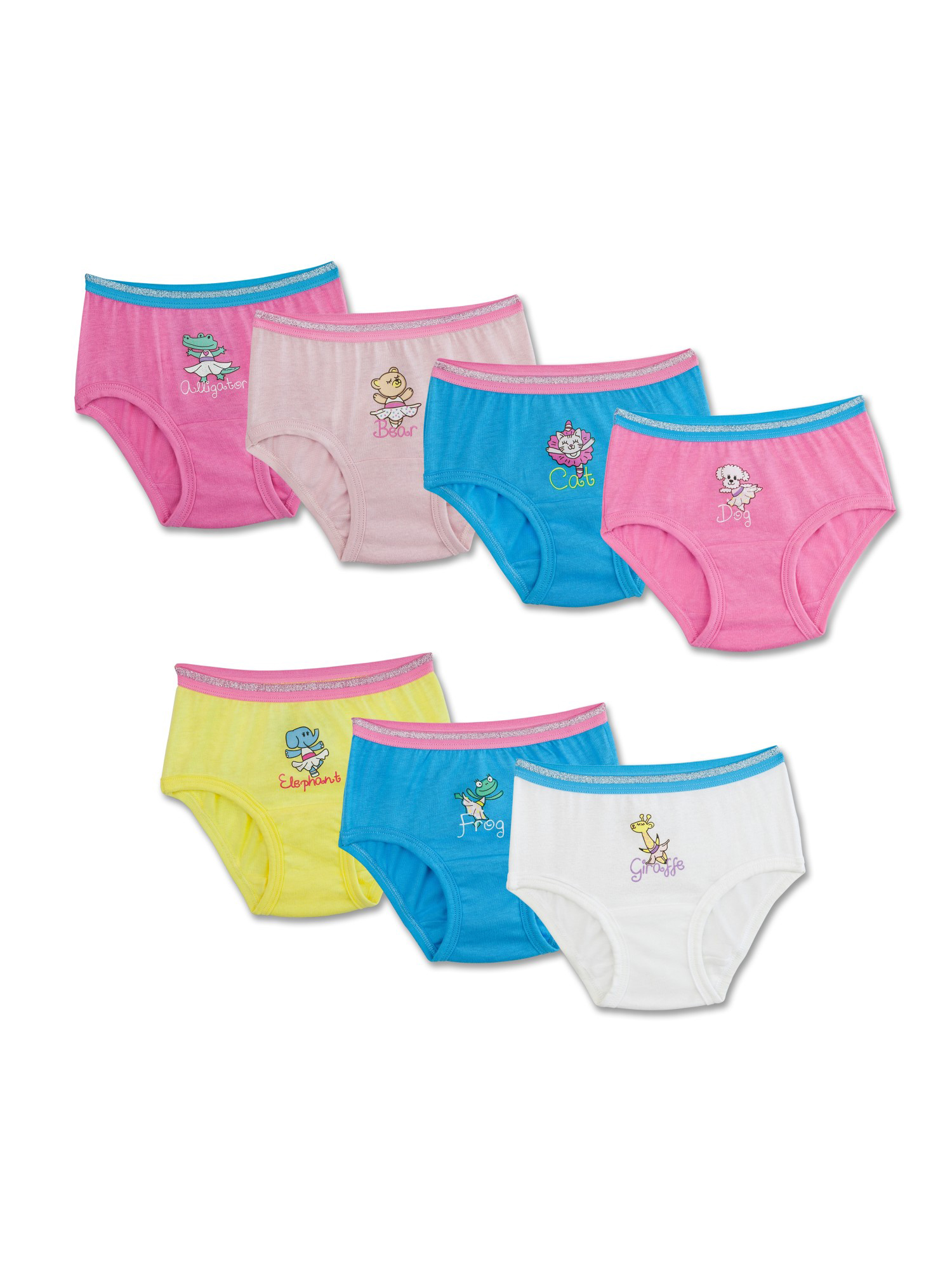 Theme Pack Briefs, 7 Pack (Toddler Girl)
