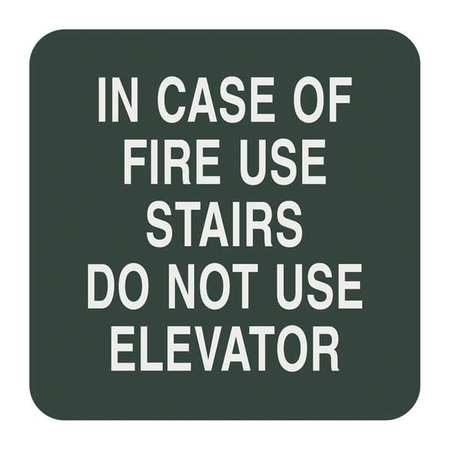 SIGN COMPLY 42307-8 DELAWARE In Case Of Fire Sign