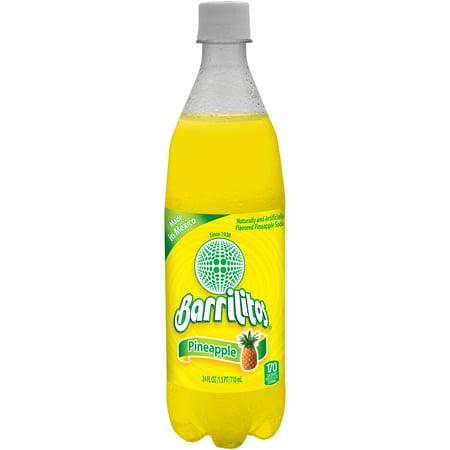 (6 Pack) Barrilitos Soda, Pineapple, 24 Fl Oz, 1 Count (Soda Single Bottle)